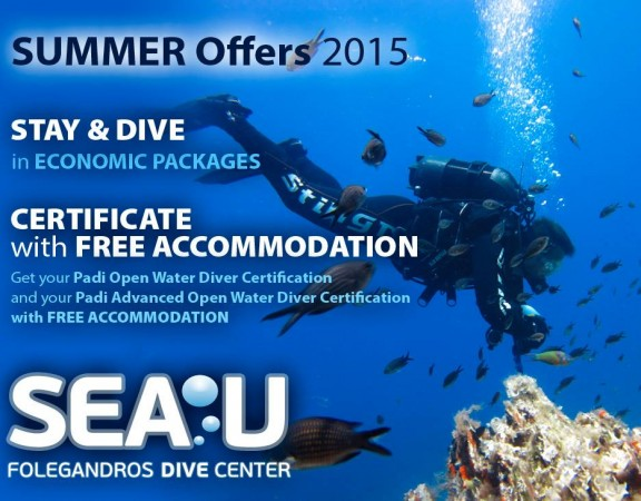 Sea U Folegandros Dive Center - Summer Offer