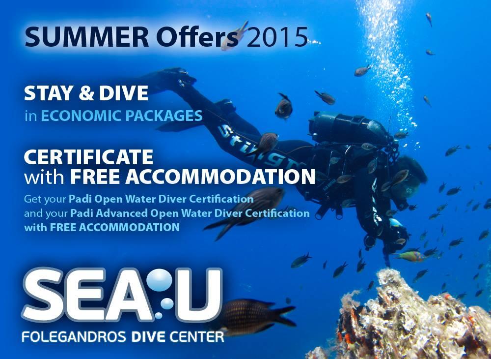 Sea U Folegandros Dive Center - Summer Offer